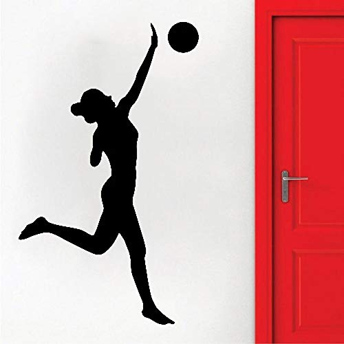 Tianpengyuanshuai muursticker volleybal sport spel meisjes vinyl sticker Home Interior Design Decoratie