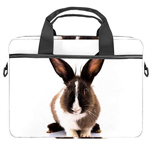 Inhomer Laptop Messenger Shoulder Bag Silly Bunny Notebook Sleeve Carrying Briefcase Handbag Briefcase