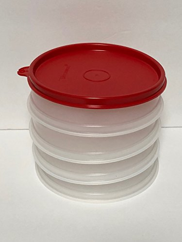 Tupperware Hamburger Freezer Set 4 Containers RED Seal