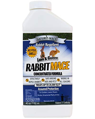 Nature's Mace Rabbit Repellent 40oz Concentrate/Covers...