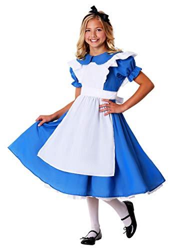 Child Alice in Wonderland Deluxe Costume Dress Small (6) Blue,White