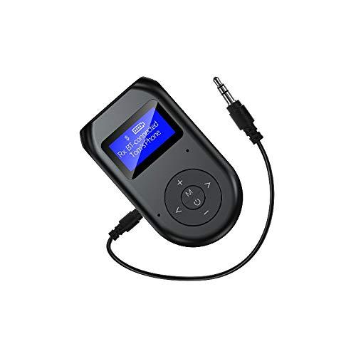 Eipek Adaptador para transmisor receptor Bluetooth 5.0 inalámbrico 3 en 1 Jack de 3,5 mm