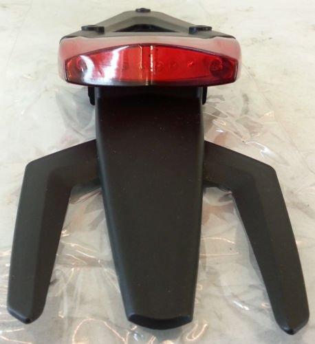 Feu arrière porte-plaque à LED universel Enduro Cross Motard Gemma Rouge