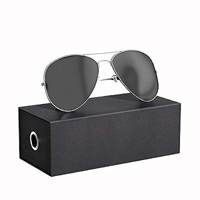 SHENMATE 100% An-ti UV Sunglasses for Men Women...