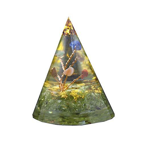 Reiki Heilkristalle eingelegt mit Edelsteinen Konischer Schmuck Sieben Chakren Yoga Meditation Energie Edelsteine Ornamente Sammlungen (4)