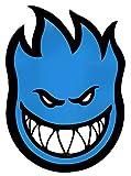 Spitfire Wheels Blue Big Bighead Skateboard Sticker - 29cm high Approx Skate