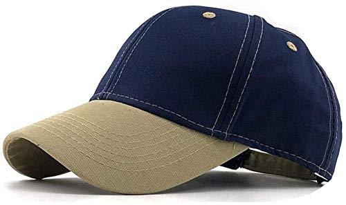 XJIUER hat Casquette à visière Baseball d'été pour Hommes Unisexe Colorblock Plaine Courbe Pare-Soleil Hip-Hop Cap Dames Casquette réglable