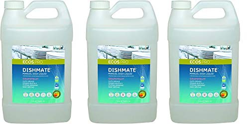 Earth Friendly Products Proline PL9722/04 Dishmate Grapefruit Ultra-Concentrated Liquid Dishwashing Cleaner, 1 Gallon Bottles (Case of 4) (3)