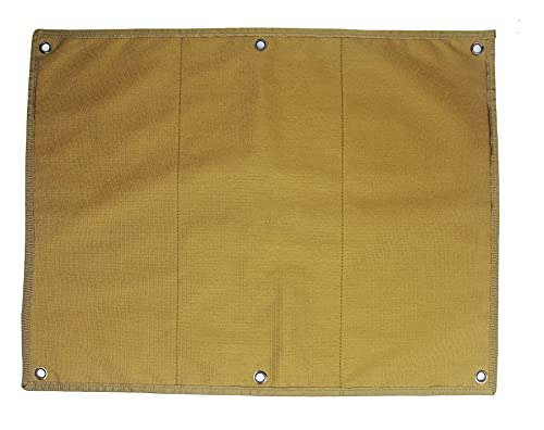 LOBOLOKO Patch Aufhänger - schwarz/Tan - Klettmatte Wand - Tactical Patch Wall - Klettfläche für Aufnäher und Patches - Organizer Velcro Klett (Tan)