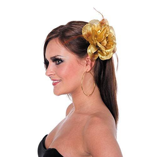 Rose avec cravate de cheveux / aiguille d'or