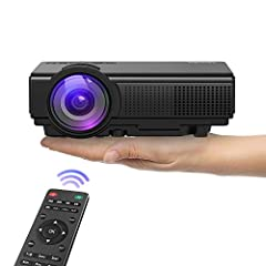 AFFORDABLE Upgraded LUMENS LED MINI PROJECTOR: This smart looking projector is brighter and sharper than other similar projectors on the market, making it your first choice in home entertainment. This projector will provide you with an excellent home...