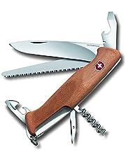 Victorinox Houten Zakmes Ranger Wood 55 (10 Functies, Vastzetmes, Schroevendraaier), Hout