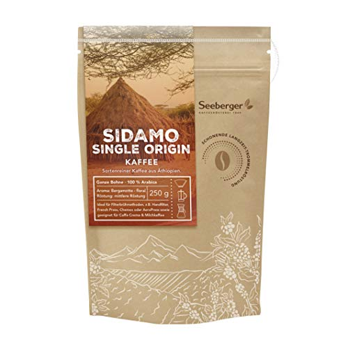 Seeberger Sidamo Single Origin Kaffee ganze Bohne 250 g