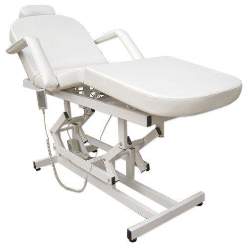 11935 elektrische 2 Motoren Behandlungsliege Therapieliege Massageliege Ruheraumliege in weiß