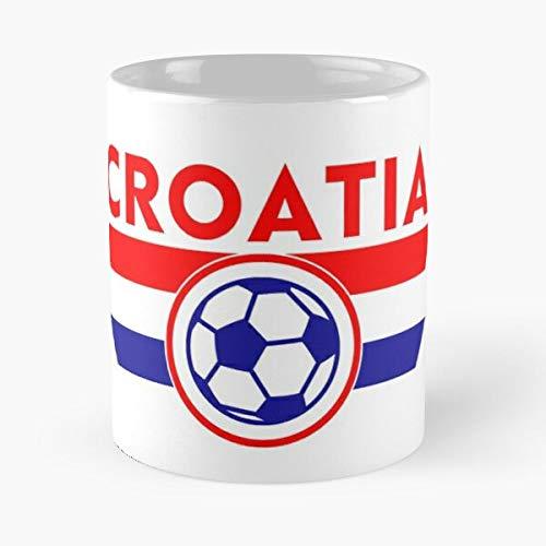 Croatia Football Soccer Jersey Shirt Fan Classic Mug -11 Oz Coffee - Funny Sophisticated Design Great Gifts White-situen.