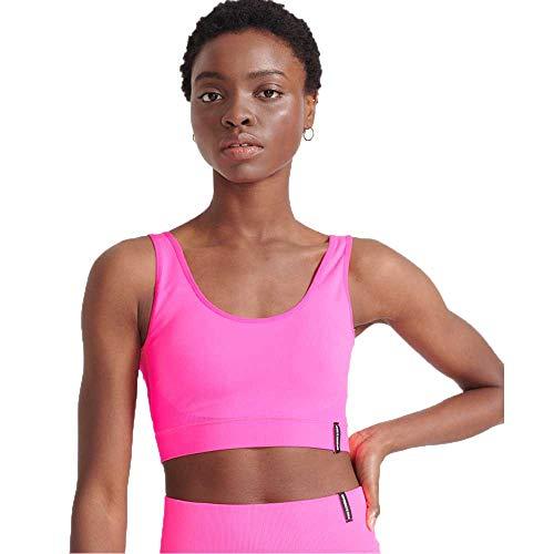 Superdry Damen Flex Seamless Bra Sport-BH, Bright Pink, Medium