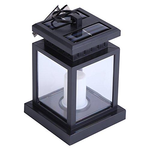 Kaarslantaarn, binnentuinpatio binnenplaatslamp Geschikt voor tuin-, tuin-, terras- of buitenverlichting en decoratie, LED solar hangende kaarslichtlantaarn
