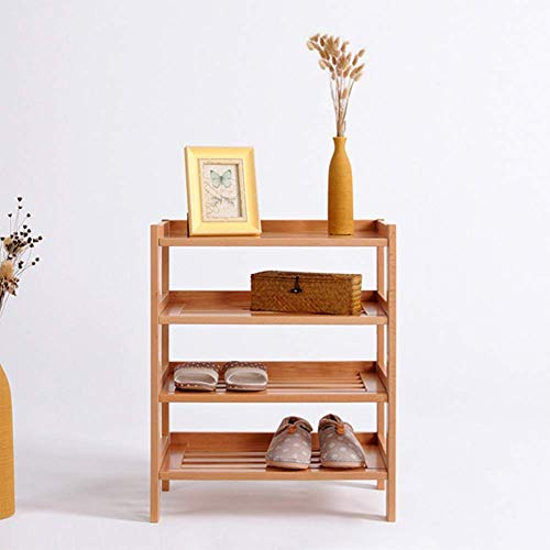 Zapatero Simple Zapatero de múltiples Capas Madera Maciza Creativo Blanco Almacenamiento de Madera Simple Estante para Zapatos Diseño Multiusos Que Ahorra Espacio, fácil de Montar