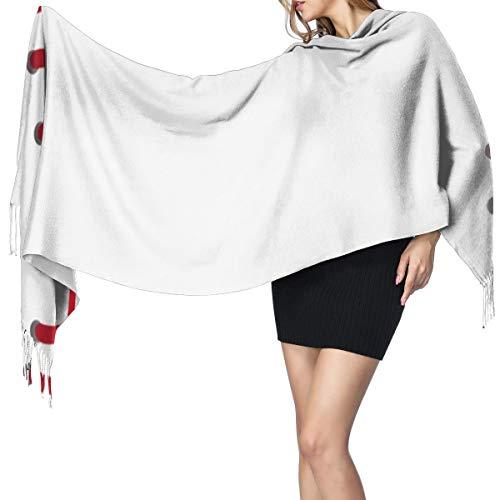 Womens Large Soft Cashmere-like Pashmina Shawls Wraps Scarf Baseball Seams Close Up Pattern Winter Warm Tassel Shawl Scarves