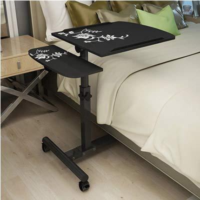 Mesa plegable parto normal de tabla plegable del ordenador portátil ajustable escritorio del ordenador portátil del ordenador portátil Rotar tabla de cama puede ser levantadas de pie China Desk Negro