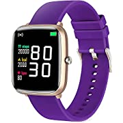 HuaWise Smart Watch for Android Phones and iOS Phones Compatible iPhone Samsung, IP68 Waterproof Smartwatch Fitness Tracker with Heart Rate, Sleep Monitor, Step Counter, Fitness Watch for Women Men