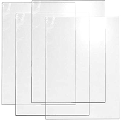 Cohas Acrylic Chalkboard in Various Sizes include Clear Plexiglass Boards and Option of Marker or Refill Set