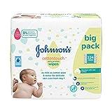 JOHNSON'S Cottontouch - Toallitas extra sensibles 224 ct (56 x 4) - mezcladas con algodón real - pH equilibrado para pieles delicadas