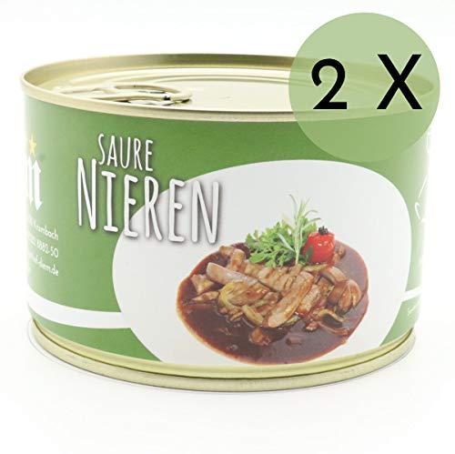2 X Konserve Diem 400g Saure Nieren vom Landschwein - Klassische Balsamico Soße - 240g gewürfelte Nierchen je Konserve - lange haltbar (14,86€ / Kg)