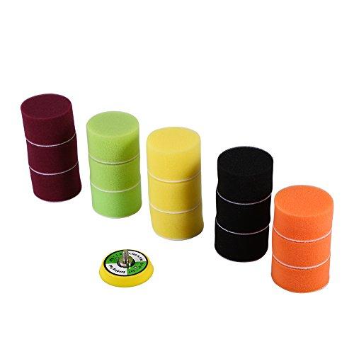 almohadillas para orejas de pulido de 2 pulgadas, almohadilla de pulido de esponja para pulir, adaptador de taladro M6, almohadillas para orejas de esponja para...