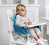 Regalo My Chair 2-in-1 Portable Travel Booster Seat & Activity Chair, Bonus Kit Includes, Oversized Removable Tray with Cup Holder, Travel Case, Aqua
