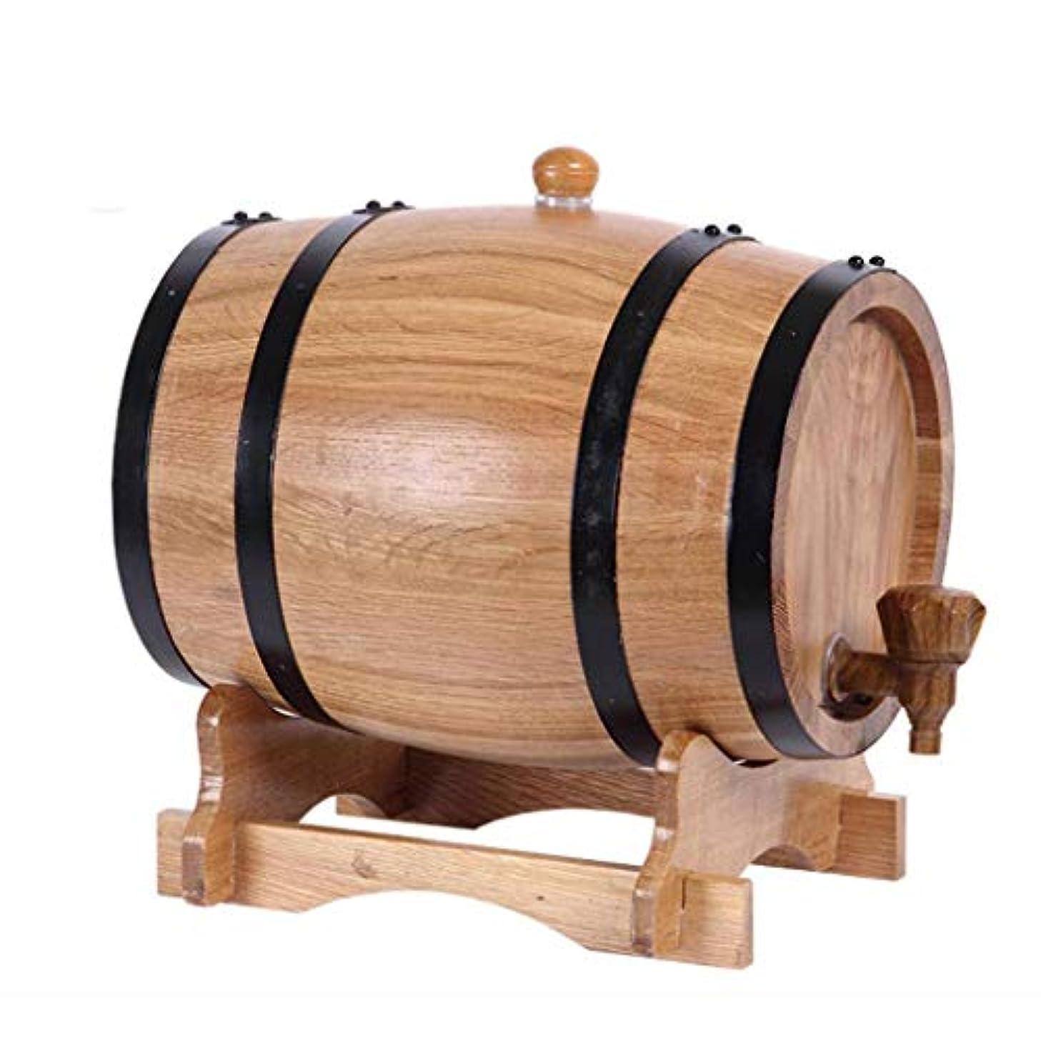 G.CHEN Oak Aging Whiskey Barrel, Vintage Wood Oak Timber Wine Barrel Dispenser, Handcrafted Using White Oak, Suitable for Whiskey/Wine/Tequila/Rum (10 Liter)