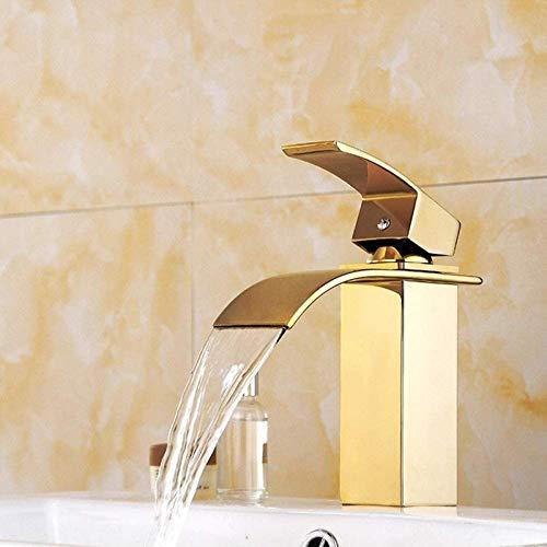 PFTHDE Splendida Cascata Bagno lavabo Mono Blocco Ottone Massiccio Rubinetto Miscelatore Caldo Freddo Guardaroba lavabo lavabo Miscelatore Rubinetto Cromato Bagno Moderno