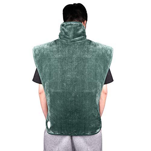 HailiCare 60 x 90cm Heizkissen für Rücken Schulter Nacken, Wärmekissen Heizdecke mit Abschaltautomatik und 6 Temperaturstufen - Schnelle Erhitzung, Maschinenwaschbar