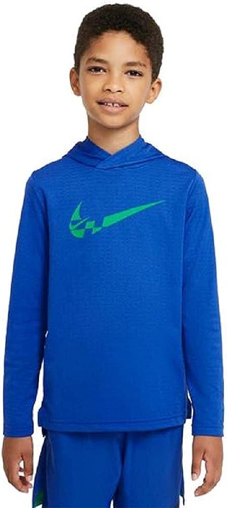Nike Boys' Breathe GFX Long Sleeve Lightweight Hoodie (Blue) Size M