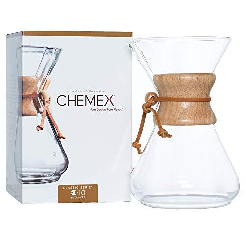 Chemex CM-10A Kaffee Zubereiter, Glas, 900 milliliters, Braun, Transparent
