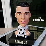 newolfend Fußball-Stars Ronaldo Messi Neymar Pogba Bobble Kopf Puppen Telefon Halter PVC Action...