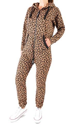 Finchgirl 34N23 FG18R Damen Jumpsuit Overall Einteiler Jogging Leopard M