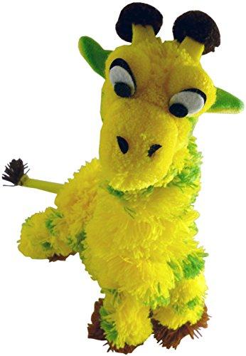 My Pet Toy Marionnette Marionnette avec Manche en Bois - Giraffe Vert / Jaune