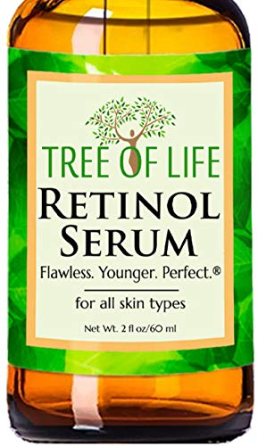 Retinol Serum for Face and Skin, DOUBLE SIZE (2oz) Anti Aging Serum, Clinical Strength Tree of Life Beauty