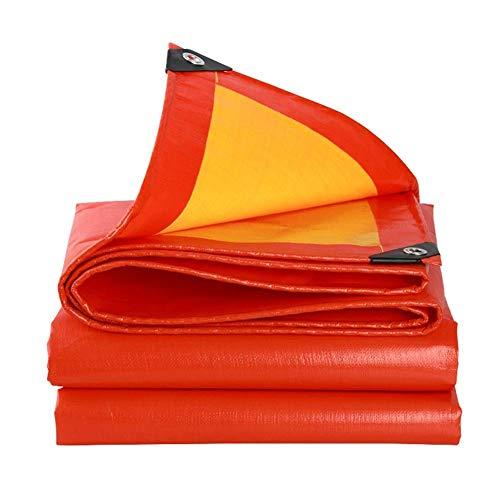 Plane, wasserfest, strapazierfähig, Balkon-Sonnenschutz für den Haushalt, staubdicht, für den Außenbereich, aus Polyethylen, Schnalle, 21 Größen, personalisierbar (Farbe: Rot, Größe: 3,8 x 4,8 m)