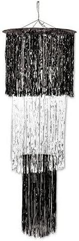 for 3-Tier Shimmering Black White Supplier Home Long trust Beach Mall Chandelier