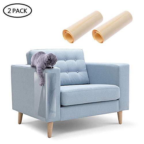 AUOKER Kratzschutz für Möbel, 2 Stück Katzen-Möbelschutz, Sofa-Schutz für Katze/Hund vor Kratzern/Möbeln/Sofa/Wände/Matratze/Autositz, Katzencouch Sofaschoner