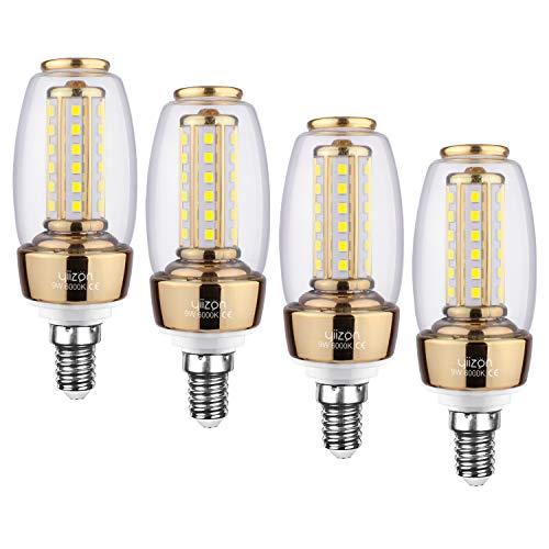 YIIZON E14 LED Glühbirnen, 9W 900LM 6000K Kaltweiß LED statt 80W Glühlampe, E14 Mais Lampen Birnen Maiskolben Leuchtmittel Kleine Kerze Licht, 4er Pack