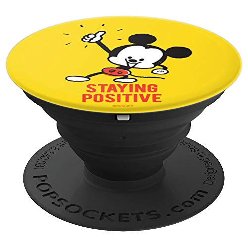 Disney Mickey Mouse Staying Positive PopSockets Grip and Stand for Phones and Tablets