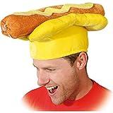 Amakando Divertente Berretto Hot-Dog/Taglia Cappello 60 / Cappello per Party Wurstel con panino/Una meraviglia per Carnevale