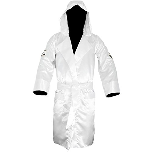 CLETO REYES Satin Boxing Robe with Hood - Small - White