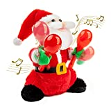 Electric Santa Claus, Red Rock Santa Singing and Dancing Chrismas Toy Christmas Dolls Christmas Electric Dancing Music Santa Claus Doll Xmas Gift for Kids