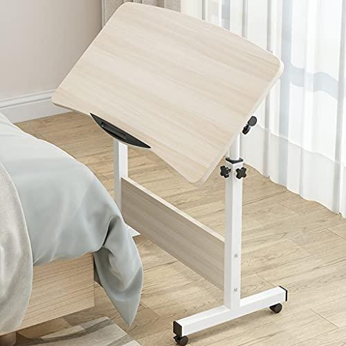 WERTYG Mesa de ordenador portátil de 80 x 50 cm, para sofá o cama, escritorio de ordenador portátil, altura ajustable, mesa plegable (color: A)