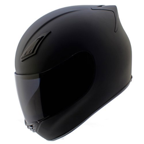 GDM DK-120 Full Face Motorcycle Helmet - Matte Black, Small (Clear & Tinted Shields)