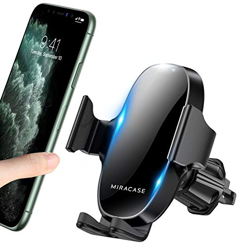 2020 Upgraded Miracase Car Phone Mount, Air Vent Cell Phone Holder for Car, Universal Car Phone Holder Cradle Compatible with iPhone 11/11 Pro/11 Pro Max/XR/Xs/XS Max /8/7/6,Pixel,S10+ and More